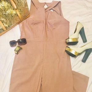 ASOS backless halter jumpsuit NWT